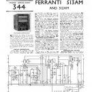 Ferranti 512AM Service Schematics. Mauritron #3758
