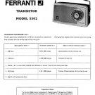 Ferranti 5502 Service Schematics. Mauritron #3770