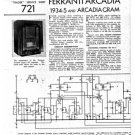 Ferranti ARCADIAGRAM  Schematics. Mauritron #3780