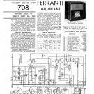 Ferranti 1037 Service Schematics. Mauritron #3793
