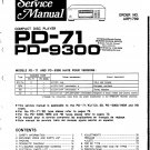 Pioneer PD9300 Service Manual. Mauritron #3981