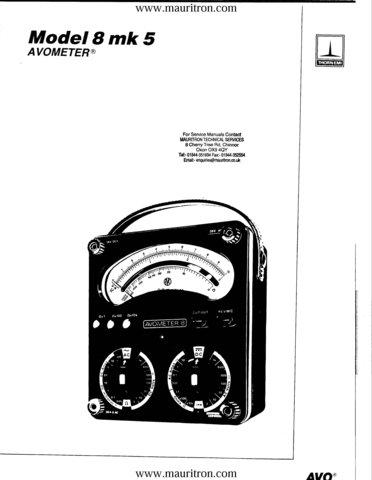 AVO Model 8 Mk 5 Meter Service Manual