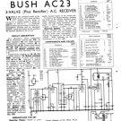 Bush AC23 Vintage Service Circuit Schematics