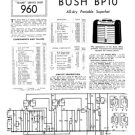 Bush BP10 Vintage Service Circuit Schematics