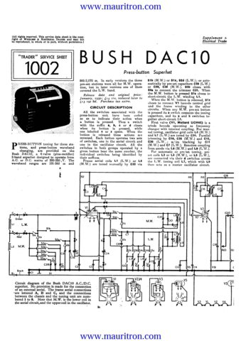 Bush DAC10 Vintage Service Circuit Schematics