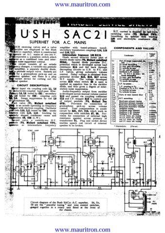 Bush SAC21 Vintage Service Circuit Schematics