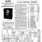 Bush SB3 Vintage Service Circuit Schematics