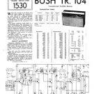 Bush TR104 Vintage Service Circuit Schematics