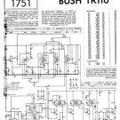 Bush TR116 Vintage Service Circuit Schematics