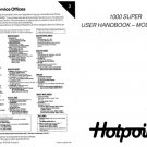Hotpoint 1000 Super 9578 Washer Operating Guide