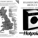 Hotpoint 800 Plus 9920 Washer Operating Guide