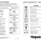 Hotpoint 9527 Washer Operating Guide