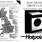 Hotpoint 9540 Washer Operating Guide