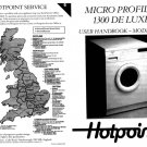 Hotpoint 9557 Washer Operating Guide