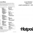 Hotpoint 9575 Washer Operating Guide