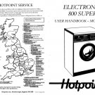 Hotpoint Electronic 800 Plus 9511 Washer Operating Guide