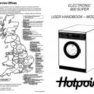Hotpoint Electronic 800 Plus 9513 Washer Operating Guide
