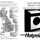 Hotpoint Electronic 800 Plus 9520 Washer Operating Guide