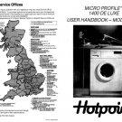 Hotpoint Micro Profile 1400 Deluxe 9565 Washer Operating Guide