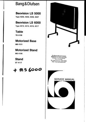 BangOlufsen LS5000 Type 4237 Service Manual