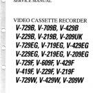 Toshiba V229B V-229B Video Recorder Service Manual