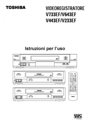 Toshiba V233EF  V-233EF Video Recorder Operating Guide in Spanish