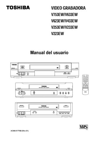 Toshiba V623EW  V-623EW Video Recorder Operating Guide in Spanish