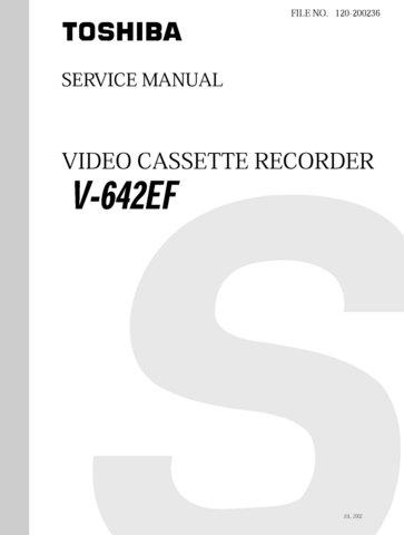 Toshiba V642EF  V-642EF Video Recorder Service Manual