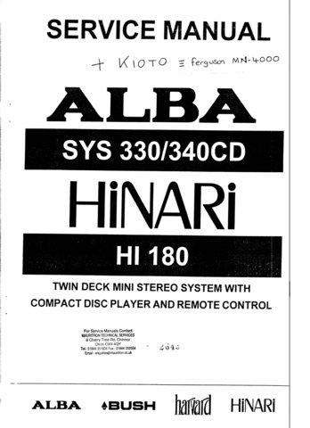 Alba SYS330 Service Manual