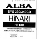 Alba SYS340CD SYS-340CD Service Manual