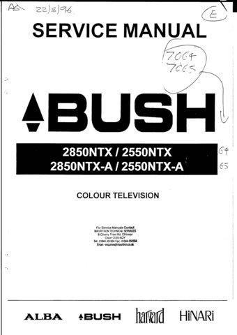 Bush 2850NTX-A Service Manual