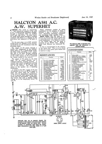 Halycon A581 A-581 Service Manual