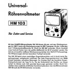 Hameg HM103 HM-103 Instructions Service Schematics Operating in German