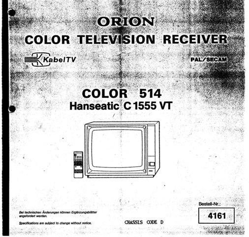 Orion C1555VT Service Manual