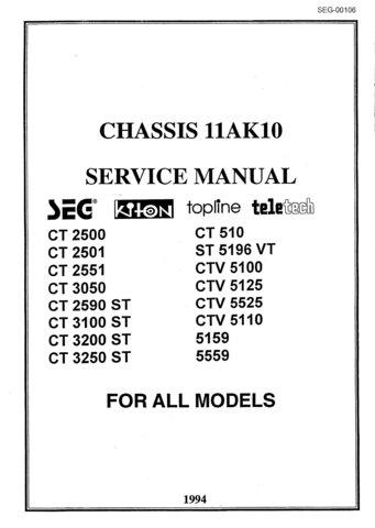 Topline CTV5125 CTV-5125 Service Manual