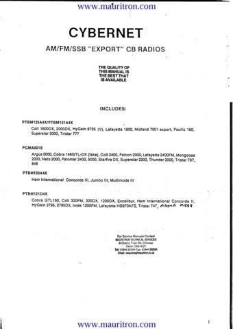 Palomar 2400 CB Radio Service Manual