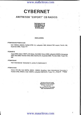 Tristar 747 CB Radio Service Manual