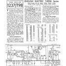 English Electric T40FM TV Service Sheets Schematics Set