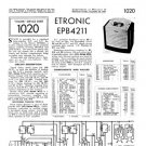 Etronic EPB4211 (EPB-4211) Radio Service Sheets Schematics Set