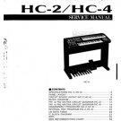 Yamaha HC4 (HC-4) Electone Piano Service Manual