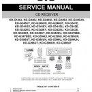 Yamaha KDG343E (KDG-343E) (KD-G343E) CD Receiver Service Manual