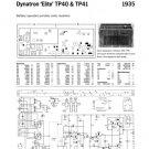 Dynatron Elite TP40 (TP-40) Radio Service Sheet Schematics Set