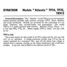 Dynatron TP34 (TP-34) Radio Service Sheet Schematics Set