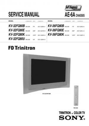 Sony KV36FQ80E (KV-36FQ80E) Television Service Manual