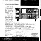KW 600 Linear Amplifier Instruction Service Schematics and Operating User