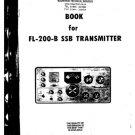 Yaesu FL200B (FL-200B) Transmitter Instructions Schematics etc and Operating