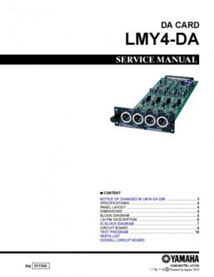Yamaha LMY4-DA (LMY-4-DA) DA Card Service Manual