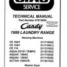 Candy Aqua. CE101 Tempo (CE-101) Washing Machine Service Manual