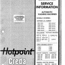 Hotpoint 9526A Washing Machine Service Manual