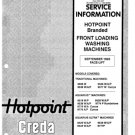 Hotpoint 9539P Aquarius Ultra Washing Machine Service Manual